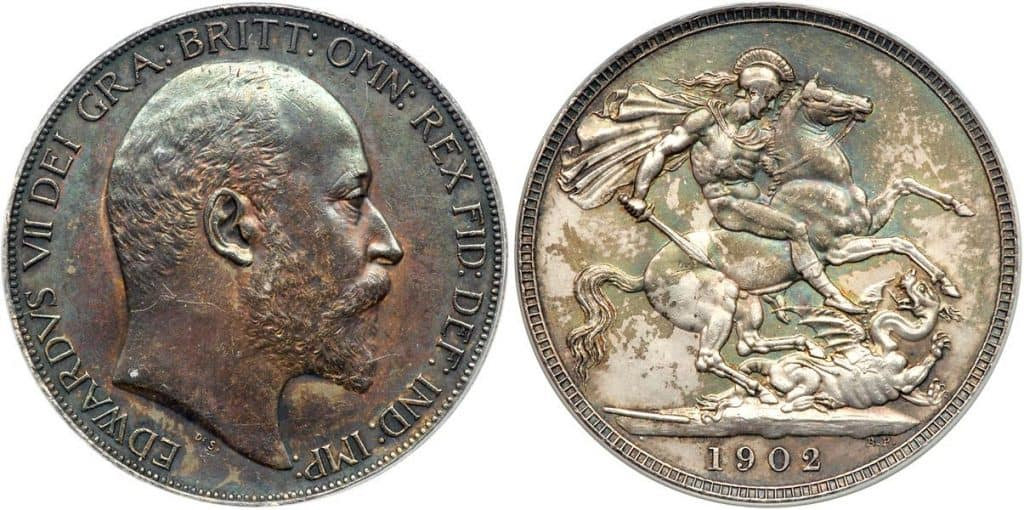 1902 edward vii crown coin