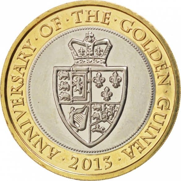 anniversary of the golden guinea £2 coin