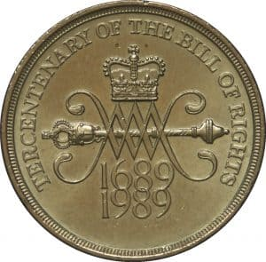 bill of rights £2 coin
