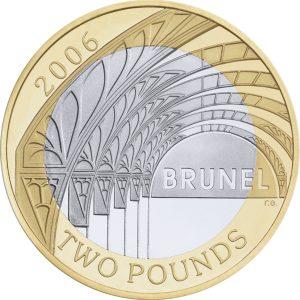 brunel £2 coin paddington station