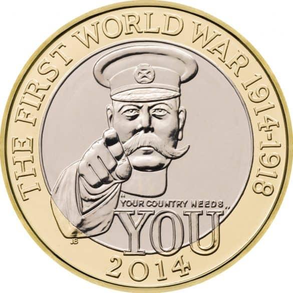 first world war £2 coin