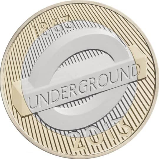 london underground roundel £2 coin