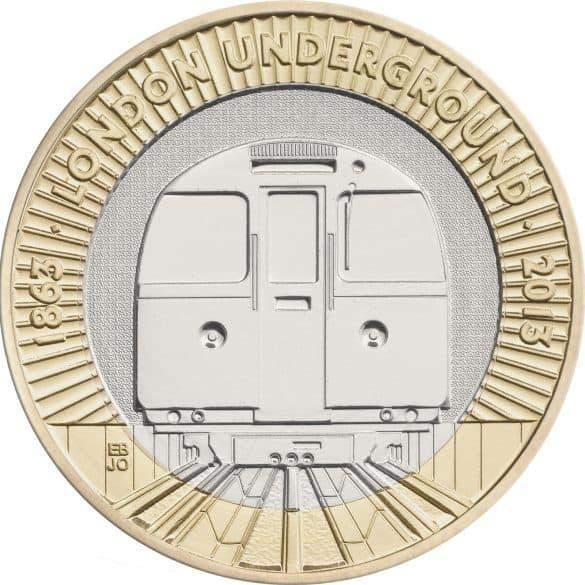 london underground train £2 coin