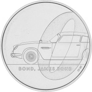 bond james bond £5 coin