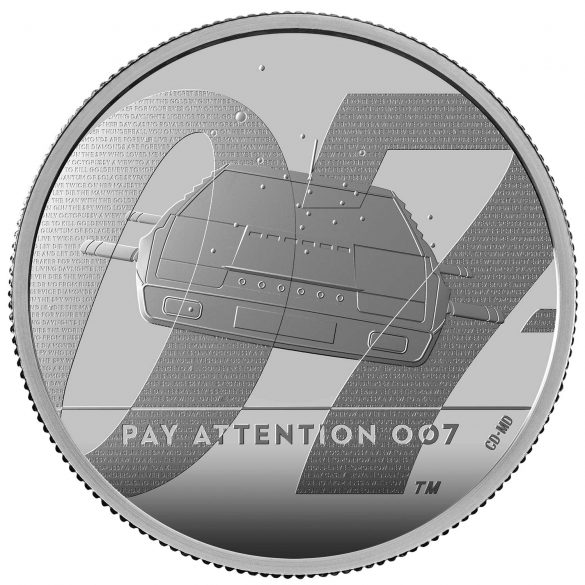 james bond pay attention £5 coin