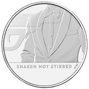 james bond shaken not stirred £5 coin